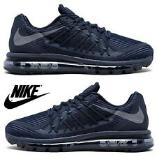 NIKE Air Max 2015 Running Sneakers Men's Athletic Comfort Gym Casual Shoes Navy
