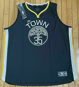Mens Fanatics NBA Kevin Durant #35 Golden State Warriors The Town Jersey NWT