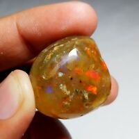 82 Cts NATURAL WELO PLAY FIRE ETHIOPIAN OPAL ROUGH SPECIMEN (28x28x18MM)T149