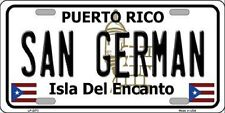 SAN GERMAN Puerto Rico Novelty State Background Metal License Plate