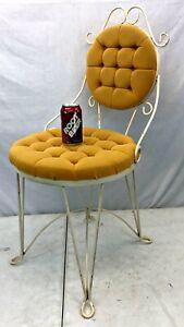 Vintage Teena Originals Boudoir Upholstered Iron VANITY CHAIR Hollywood Regency
