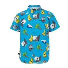 Camicie blu a manica corta per bambini dai 2 ai 16 anni
