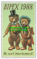 R530245 Bipex. 1988. We Can t Bear to Miss It. Postcard Traders Association. Bip