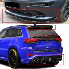 FRONT SPLITTER & REAR DIFFUSER & TOP MID SPOILERS JEEP GRAND CHEROKEE SRT8 WK2