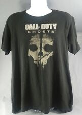 New Men's Activision Black Call of Duty Ghosts Video Game L embellished t-shirt