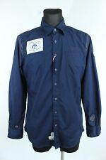 Tom Tailor BNWT 89 Dark Blue Collared Long Sleeve Men Shirt Size L