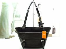 NWT LATICO Satchel Bag Dark Brown Leather W Flap Pocket &Removable Handle Strap