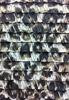 """Thick Ruffles Large Leopard Animal Print Poly Spandex Knit Fabric -  52"""" Wide"""