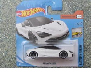 Hot Wheels 2018 #318/365 Mclaren 720S Blanc Usine Frais Neuf Fonte 2018