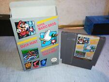 Nintendo NES Super Mario Bros. Duck Hunt World Class Track Meet + Awesome Box!!