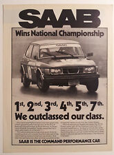 1979 Saab SCCA National Championship Winner Ad - Must See !!