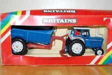 VINTAGE BRITAINS FARM FORD 6600 TRACTOR & REAR DUMP TRAILER BOXED 9630       N5