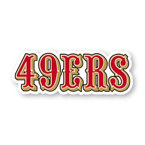 San Francisco 49ers Fan Design Home D/écor Bumper Laptop Vinyl Decal Sticker