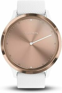 NEW Garmin Vivomove HR Hybrid Smartwatch White Rose Gold