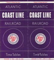 Atlantic Coast Line 1962 Passenger Timetable - RailfanDepot