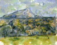 Mont Sainte-Victoire 2 by Paul Cezanne Giclee Repro on Canvas