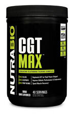 NutraBio CGT Max 40 servings Creatine Glutamine Taurine Unflavored ATP Recovery