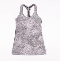 Womens Lululemon Grey Acid Wash Racerback Tank Top Size S Small