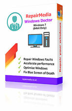 Windows 7 Doctor Data Repair Recovery ReInstallation DVD Software PC (64bit)