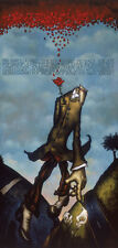 """Markus Pierson """"Red Sky Blue Heart"""" Hand Signed Limited Ed. Serigraph on Canvas"""