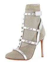 *BNIB*  Valentino Rockstud Bodytech Silver Sock Booties - 38.5  (+ sizes avail)