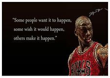 Michael Jordan Quote - Basketball Sports Legend Wall Art Canvas Pictures