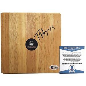 Tiffany Hayes Uconn Huskies Signed Autograph Basketball Floor Board Beckett BAS