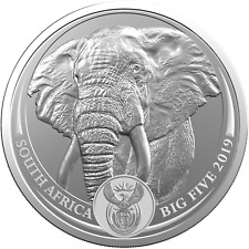 1 Ounce fine Silver Big Five Elephant South Africa 2019 Blister