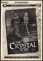 CURSE OF_THE CRYSTAL EYE__Original 1987 Trade AD promo / poster__CYNTHIA RHODES