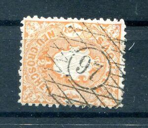 Saxony Number Stamp 97 Olbernhau On 15 On Arms Postmarked (10379
