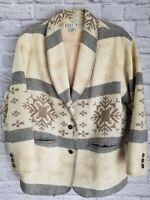 Vintage East West Winter Western Wool Lined Jacket Coat Women's Medium