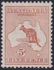 1913 5d Chestnut 1st Wmk Kangaroo. VF example