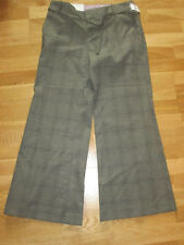 Viscose Wide Leg Low Rise Trousers for Women