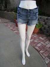FREE PEOPLE front cut off denim shorts distress size 25 waist