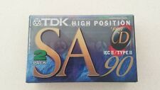 TDK SA 90 Cassette - HiFi - Type II - 2 Pack - CASSETTES NEW & SEALED
