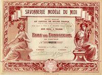 Dépt 31 - Toulouse - Magnifique Décor & Très Rare (200) Savonnerie du Midi 1914