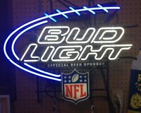 BUDWEISER LIGHT NFL OFFICAL  Neon Beer Sign