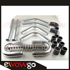 """UNIVERSAL 2.25"""" ALUMINUM ALLOY TURBO INTERCOOLER PIPING KIT PIPES CLAMP COUPLER"""