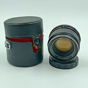 Vintage Mamiya Sekor 55 mm F1.8 Lens No. 14313 With Case