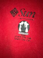 Vtg 1997 Sun Microsystems Share The Gain Share The City Fleece Employee Vest