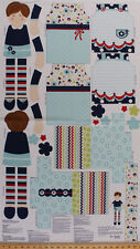 "23.5"" X 44"" Panel Doll Cloth Dolly Sew Dress Up Doll Kids Cotton Panel D673.11"