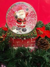 Christmas Musical Santa Carrying A Sack Waterball Snow Globe Decoration Ornament