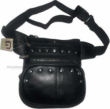 Leather waist pouch large waist bag leather bag Fanny pack sports bag pocket BN