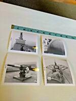 Vintage 1960s Lot of 4 Battle Ship Tourist Photos ~ Ships FREE