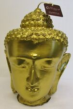 """Blissliving Home Gold Buddha Head Contemporary Candle 9"""" H x 6 1/2"""" W"""