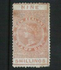 68965 - NEW ZEALAND - STAMPS: Stanley Gibbons FISCAL STAMPS Revenue# F 18 Hinged