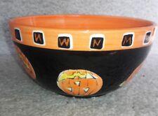 Halloween Pumpkin Jack-o'-lantern Bowl Wendover Lane Libby Wilkie