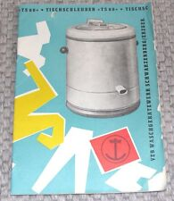 Manuale d'uso tavolo CENTRIFUGA TS 60 DDR