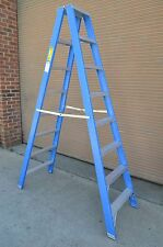 Double sided Side Fibreglass Step Ladder 2.4M 8 feet foot ft 150KG in Blue