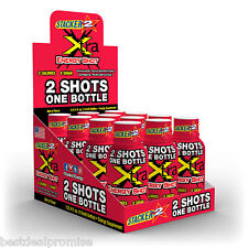 Stacker 2 Extra Energy Shot XTRA BERRY (DOUBLE SIZE 4OZ) EXP: 2019 (Lot of 12)